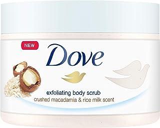 Dove多芬 沐浴磨砂膏 去角质 澳洲坚果 &米浆 4件装 (4 x 225 ml) 德文英文包装随机发货