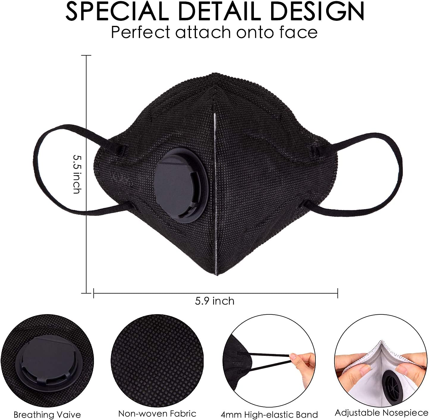 可订购:20片 KN95级 带呼吸阀 一次性防护口罩 Prime到手466.6元 买手党-买手聚集的地方