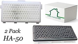 Casa Miele SF-HA50 真空吸尘器替换装 Hepa 过滤器,带活性炭。 适合 S4000、S5000、S6000、S8000、C2 和 C3 系列 Miele 真空吸尘器。