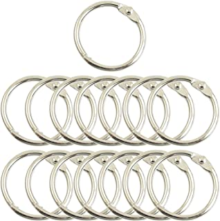 Uxcell Metal Photo Album Loose Leaf Rings, 1.5-Inch Outer Diameter, 15-Pieces (a12111300ux0186)