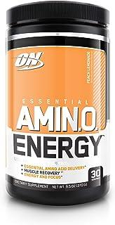 Optimum Nutrition 欧普特蒙 必需氨基酸能量,桃子柠檬水口味,锻炼前必需氨基酸补充,含绿茶和生咖啡提取物,30份