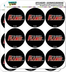 "NHL Calgary Flames 徽标策划日历剪贴簿工艺贴纸 不透明 18 2"" Stickers SCRAP.STICK02.NHL01.Z005556_8"