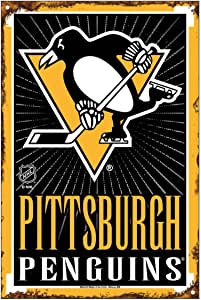 NHL Pittsburgh Penguins 15.24 x 22.86 cm 金属丝悬挂标牌