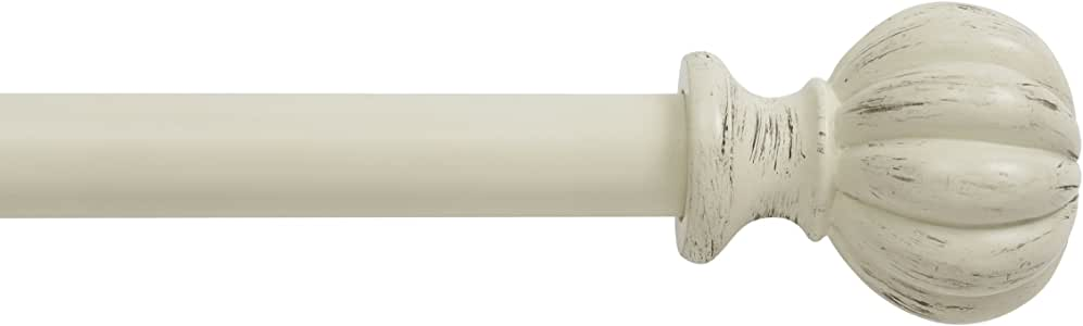 Kenney Deco Window Curtain Rod, 28 to 48-Inch, Antique White
