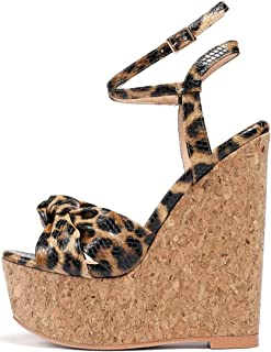 YODEKS 女式高跟凉鞋 | 露趾坡跟 | 踝带防水台凉鞋高跟鞋