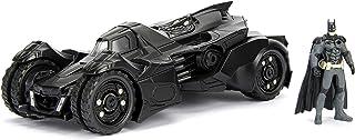 Jada Toys DC漫画公司 2015蝙蝠侠 Arkham骑士蝙蝠车和蝙蝠侠 金属合金压铸收藏玩具车与人物模型