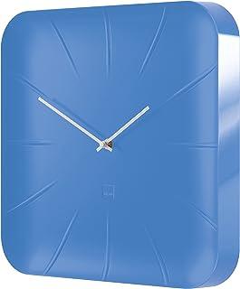 Sigel 1 件 35 x 35 x 4.5 cm ABS 塑料Artetempus 挂钟模型印度,深色无*煤色 全新蓝色 35 x 35 x 4.5 cm WU141