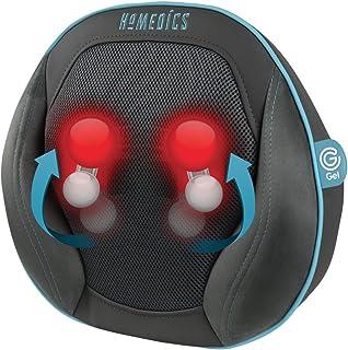 HoMedics GEL 按摩垫 – 有针对性的深层指压按摩,采用创新的凝胶技术,多用途,适用于背部、颈部、肩部、腰部、腿部、小腿、带加热功能