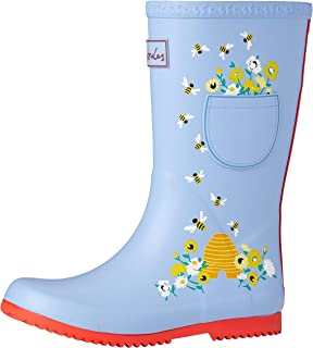 Joules 女童卷边 Welly Wellington 靴子