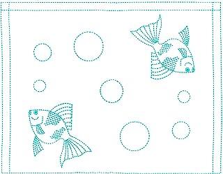 NASKA 刺子布 海绵 S-3 金鱼 17073