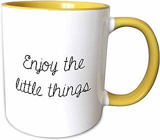3dRose 马克杯 黄色/白色 15-oz Two-Tone Yellow Mug mug_224534_13