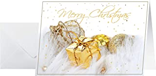 Sigel DS064 圣诞贺卡套装 带信封,A6,10件,带金色压花,圣诞礼物