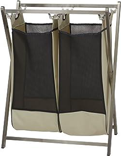 Household Essentials 7090-1 单工业不锈钢洗衣篮 - 双包装 7091-1