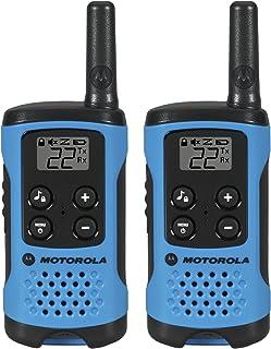 Motorola T100 Talkabout Radio,2 只装T100  T100-2 包 T100    2 Pack 霓虹蓝色