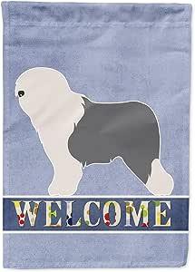 Caroline's Treasures BB8294CHF 古老英式绵羊犬摇摆帆布旗,多色