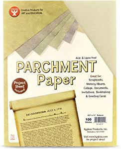 Hygloss 92101 100-Sheet Parchment Paper, 8.5 by 11-Inch, Natural
