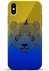 豪华设计师,3D 印花,时尚,高端,变色效果手机壳,适用于 iPhone Xs/X - 黄昏蓝小白色棒球图案LUX-IXCRM2B-PANDA1 ANIMALS: BIG PANDA 蓝色(Dusk)