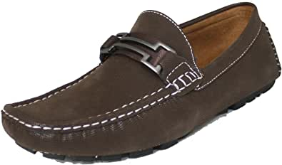 reverse F41223 男式棕色绒面革驾驶乐福鞋