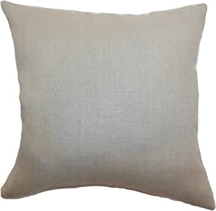 "The Pillow Collection Urania Plain 欧式枕套棕褐色 ""Multi"" European/26"" x 26"" EURO-MVT-1130-TAN-L100"