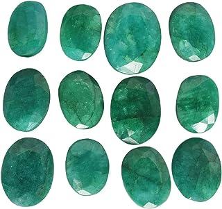 约 60 克拉 / 12 件天然椭圆形切割哥伦比亚松散绿色宝石