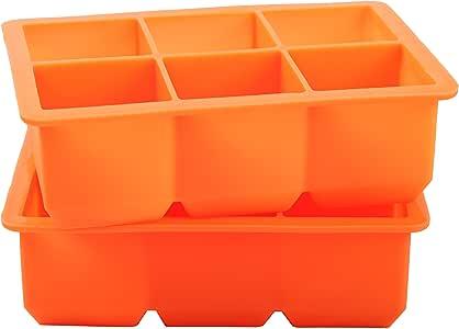 Finnhomy 冰块托盘 橙色 6 cubes COMINHKPR141371