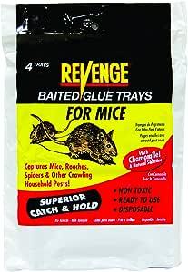 Bonide 47026 Revenge No Escape Mouse 胶水托盘(4 只装)