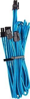 CORSAIR 高级独立袖子 PCIe(双连接器)电缆 - 蓝色,2 年保修,适用于 Corsair PSU