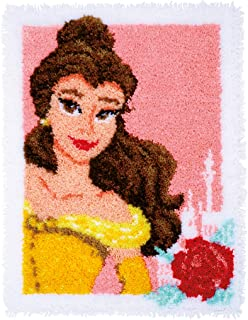Vervaco Carpet 魔法美人形地毯锁扣钩数十字绣套件,多色