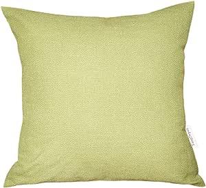 TangDepot 亚麻手工纯色装饰抱枕/枕套,厚软