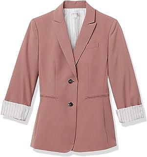Tahari ASL 女式双扣条纹卷袖夹克