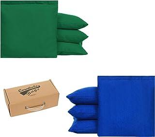 OOFIT 标准尺寸全天候阻力玉米孔豆袋 4 件套,带鸭绒布和双缝线