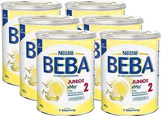 Nestlé BEBA 雀巢贝巴 Junior 2,2+段婴儿奶粉,适合2岁起幼儿,6罐装 (6 x 800g)