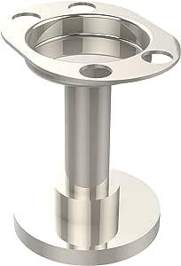 Allied Brass Vanity Top 杯子和牙刷架 亮灰色(Polished Nickel) 955-PNI