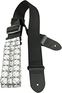 Perris Leathers DL101-112 2-Inch Nylon Guitar Strap with Elite Designer Fabric Pad with Leather Ends