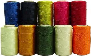 多色 10 卷绗缝机缝线轴丝线束 多种颜色 MT52A