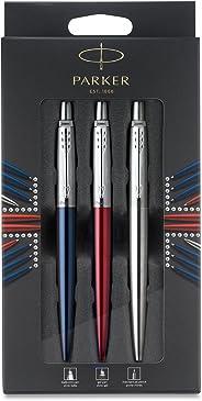 Parker 派克Jotter 圆珠笔,红色+蓝色+机械铅笔 礼盒装