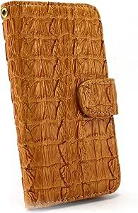 白色坚果鳄鱼图案手机保护壳翻盖式 骆驼 1_ iPhoneSE