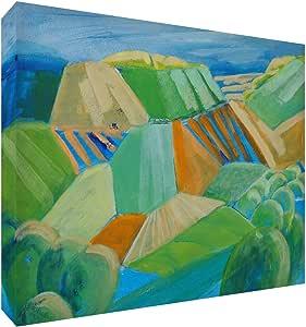 Feel Good Art 印花颜色鲜艳的抽象艺术家 Val Johnson 田径 91 x 60 x 4 cm - XL 码