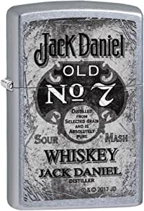 Zippo Jack Daniels 汽油打火机 - 黄铜,不锈钢 1 x 6 x 6 厘米