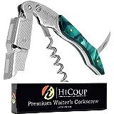 HiCoup - 一体化开瓶器、开瓶器和铝箔切割器,全球各地的侍酒师、服务员和调酒师的* 玉色 HK-01-Jade