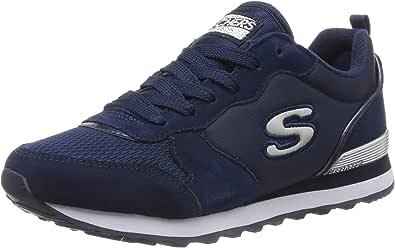 Skechers 斯凯奇 Retros-og 85-goldn 女士运动鞋 (Navy Suede/Mesh/Nylon/Silver Trim NVY), 6.5 EU