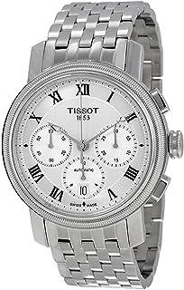 Tissot 天梭 Bridgeport 银色表盘 不锈钢男式手表 T0974271103300