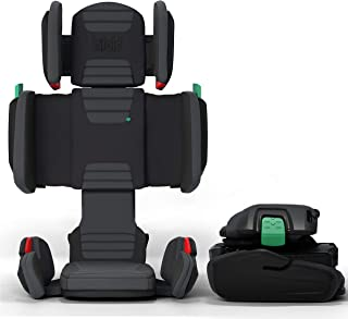 hifold 贴合折叠高靠背座椅,赛车红 - 可调节高靠背座椅,适用于日常,汽车等 - 可折叠增高座椅适合旅行 石板灰
