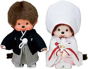 蒙奇奇 和服婚礼套装 布偶 箱子高约27cm