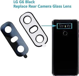 LG G6外壳相机玻璃盖 button 音箱 FLEX parts Camera Glass Lens [LG G6 (Black)]