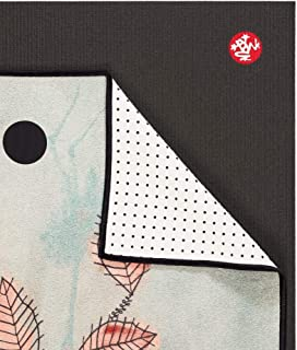 Yogitoes Manduka Yoga Towel for Mat, Non-Slip and Quick Dry for Hot Yoga with Rubber Bottom Grip Dots, 68 Inch Long, Thin ...