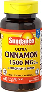 Sundance Cinnamon with Biotin and Chromium Supplement Tablets, 60 Count