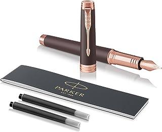 PARKER 派克 Premier 钢笔,软棕色,黑色笔芯,带黑色墨水笔芯