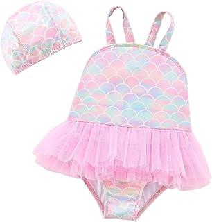 女婴独角兽泳装一件式儿童泳衣小女孩游泳衣