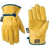 Wells Lamont 男士防水皮革工作手套,带腕扣,HydraHyde 技术 XX-L 1164XX